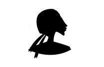 Transparent Old Lady Head Silhouette Png