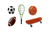 Sports Equipments Png Image
