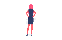 Stylish Woman Vector Png