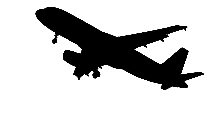 Transparent Airplane Taking Off Silhouette PNG