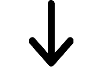 Arrow Pointing Down | Thick Arrow Pointing Down Png Hd Image