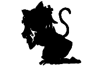 Anime Girl With Tail Png With Transparent Background