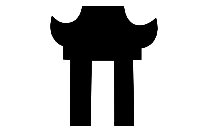 Transparent Chinese Temple Logo