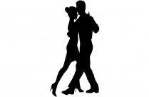 Black Ballroom Dance By Couple Clipart Png, Ballroom Dance By Couple Transparent Background
