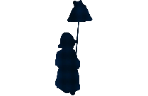 Transparent Little Girl With Rose Silhouette Clip Art
