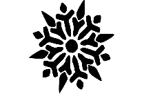 Transparent Fancy Snowflake Background