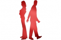 Transparent Fighting Couple Art Silhouette