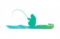 Transparent Fishing Silhouette