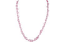 Transparent Hearts Necklace Drawing, Hearts Necklace Png Image
