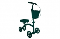 Transparent Knee Cycle Walker Silhouette