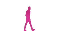 Colorful Friends Walking Png Clipart