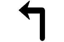 Right Turn Arrow Art Png Background Hd