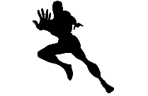 Transparent Superhero Silhouette, Clipart