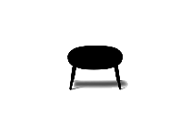 Transparent Swoon Ottoman Silhouette