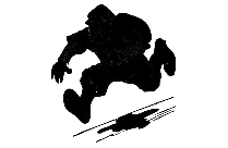 Transparent Thief Running With Bag Png Clipart Free Download
