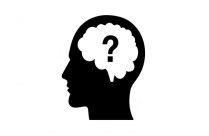 Transparent Man Looking Up Thinking Transparent Silhouette, Clip Art