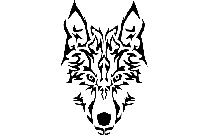 Transparent Tribal Wolf Face Picture