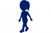 Girl Walking With Hat Png Transparent Clipart For Download