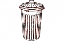 Trash Can Png Transparent Clipart For Download