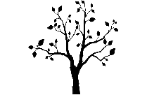 Colored Tree Png Silhouette Transparent Background