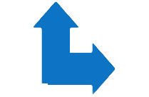 Two Arrows Pointing Up And Right Transparent PNG