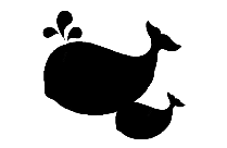 Whale Cute Baby Dolphin Png Silhouette