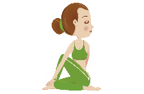 Yoga Pose Side Stretching PNG Clipart Image