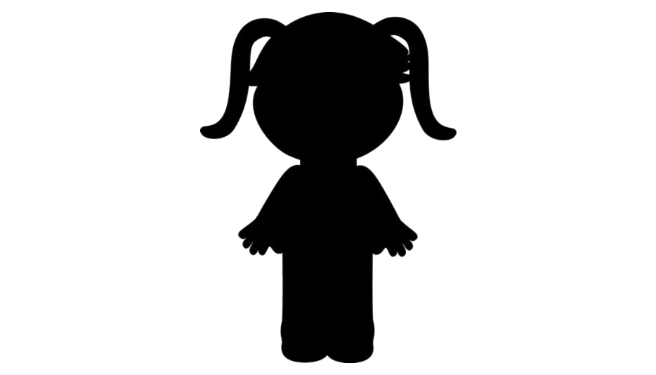Transparent Angry Little Girl Silhouette Png