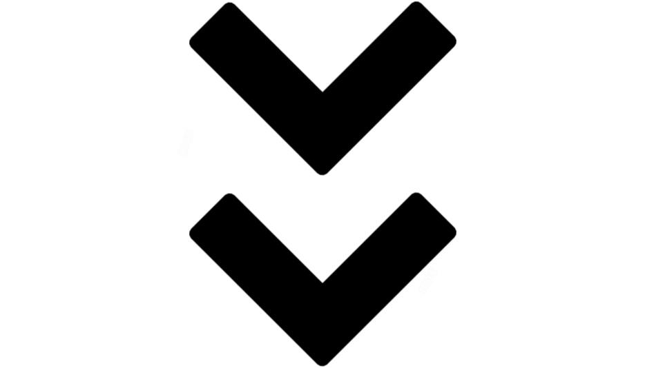Transparent Animated Down Double Arrow Image