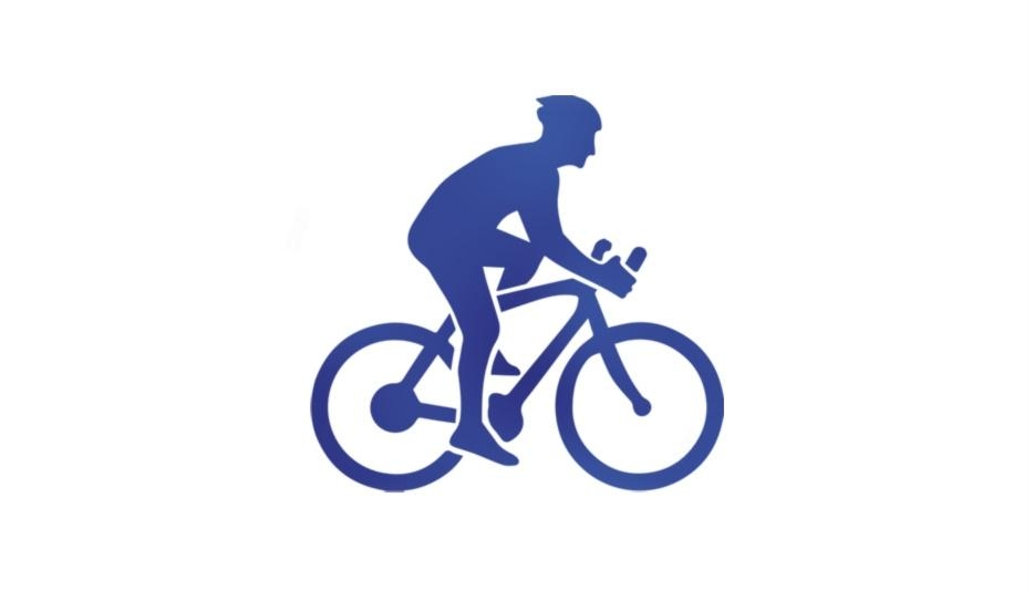 Transparent Bicyclist With Helmet Silhouette