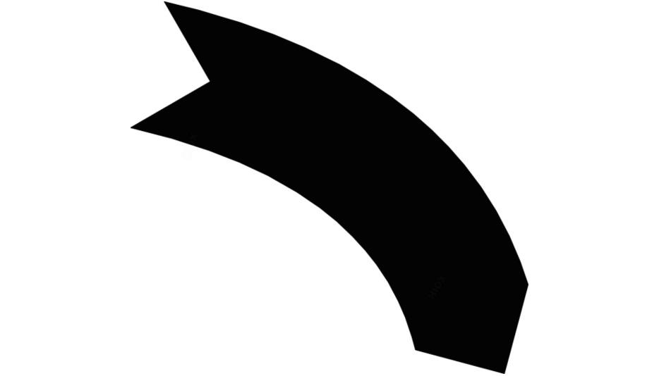 Transparent Curved Arrow Art, Curved Arrow Png Image