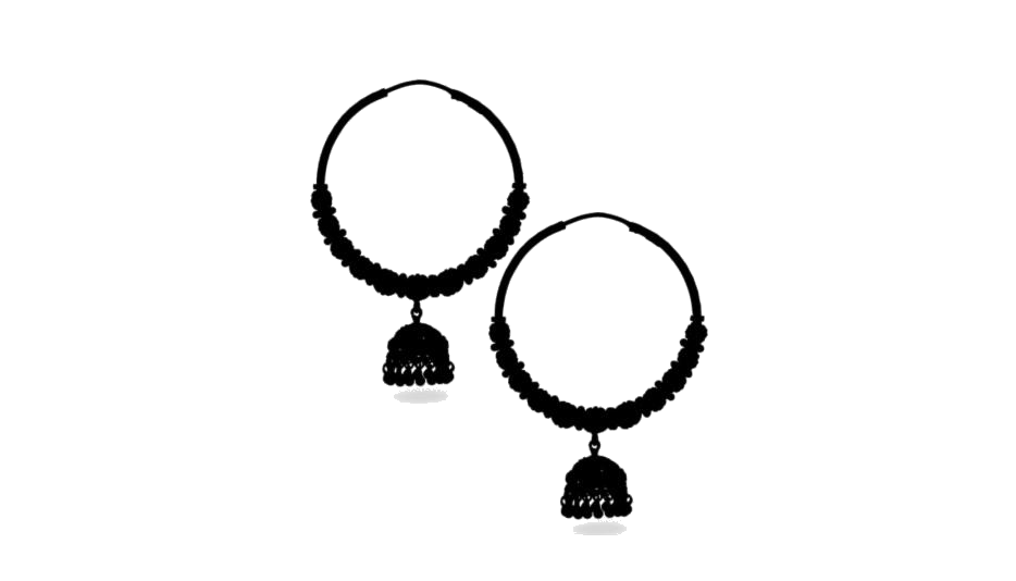 Transparent Jhumka Earrings Silhouette, Png Clip Art