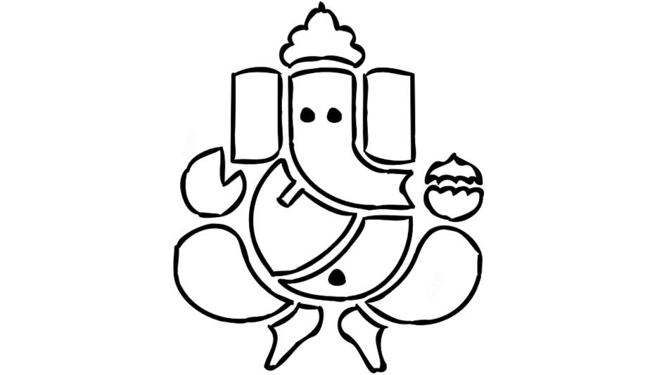 Transparent Lord Ganesh Art