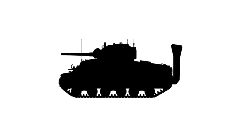 Transparent Military Tank Silhouette, Png Clip Art