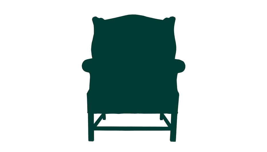 Transparent Modern Wing Chair Silhouette Png