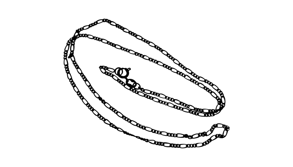 Transparent Rope Chain Necklace Png Icon