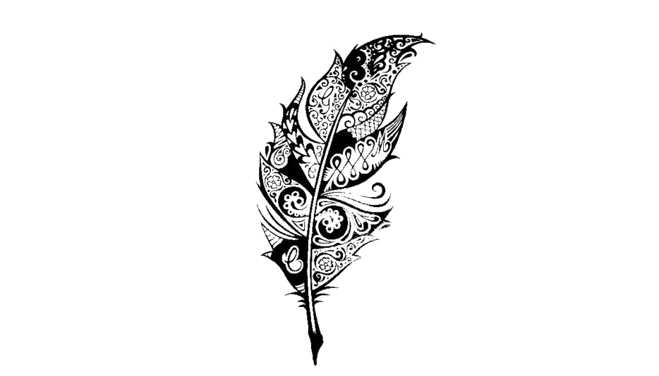 Tribal Feather Tattoo Png Drawing